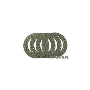 Zestaw okładzin hamulcowych (hamulec tarczowy) bez nitów, 228 x 150 x 4,7 mm Deutz-Fahr