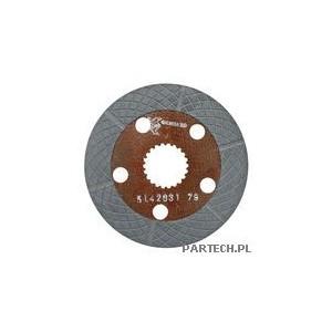 Tarcza hamulcowa fi 165 mm, 22 zęby  grubość: 4,5 mm Fiat