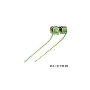 Palec przetrząsaczo-zgrabiarki karuzelowej prawy (kremowy, z czerwonym oznaczeniem) Claas W/WA-S 400,WR