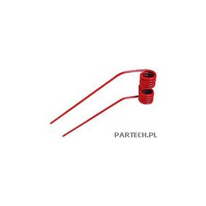 Palec przetrząsaczo-zgrabiarki karuzelowej prawy ( czerwony) Fella TH 2,20,40